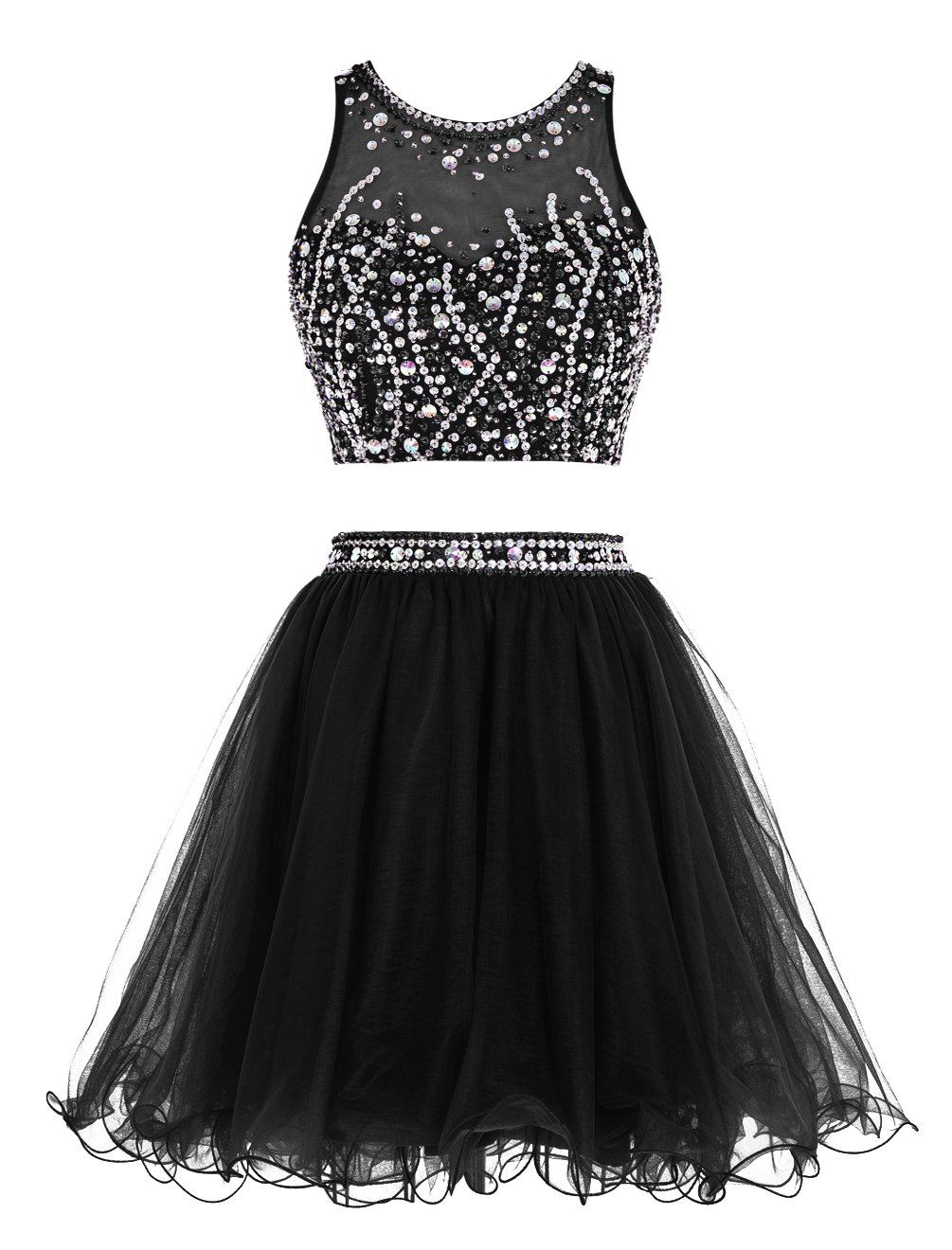 Robot Check Two Piece Homecoming Dress Prom Dresses Two Piece Short Cocktail Prom Dresses [ 1320 x 1005 Pixel ]