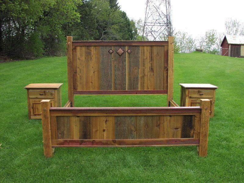 barn wood bed frames king bed set of antique wood this gorgeous king bed - King Bed Frame Wood