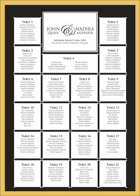 printable seating chart wedding seating chart colours fonts
