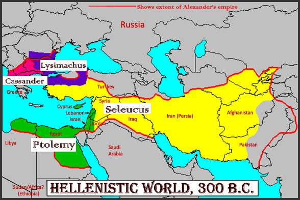 The division of alexander the greats empire after his death between the division of alexander the greats empire after his death between 4 of his generals seleucus nicator taking mesopotamia and syria cassander gumiabroncs Gallery