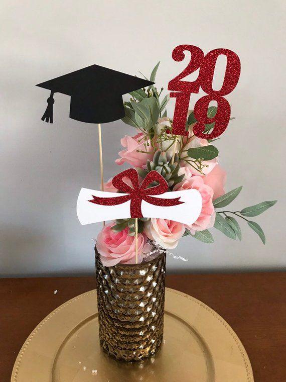 Graduation Party Decorations Graduation Centerpiece Cap