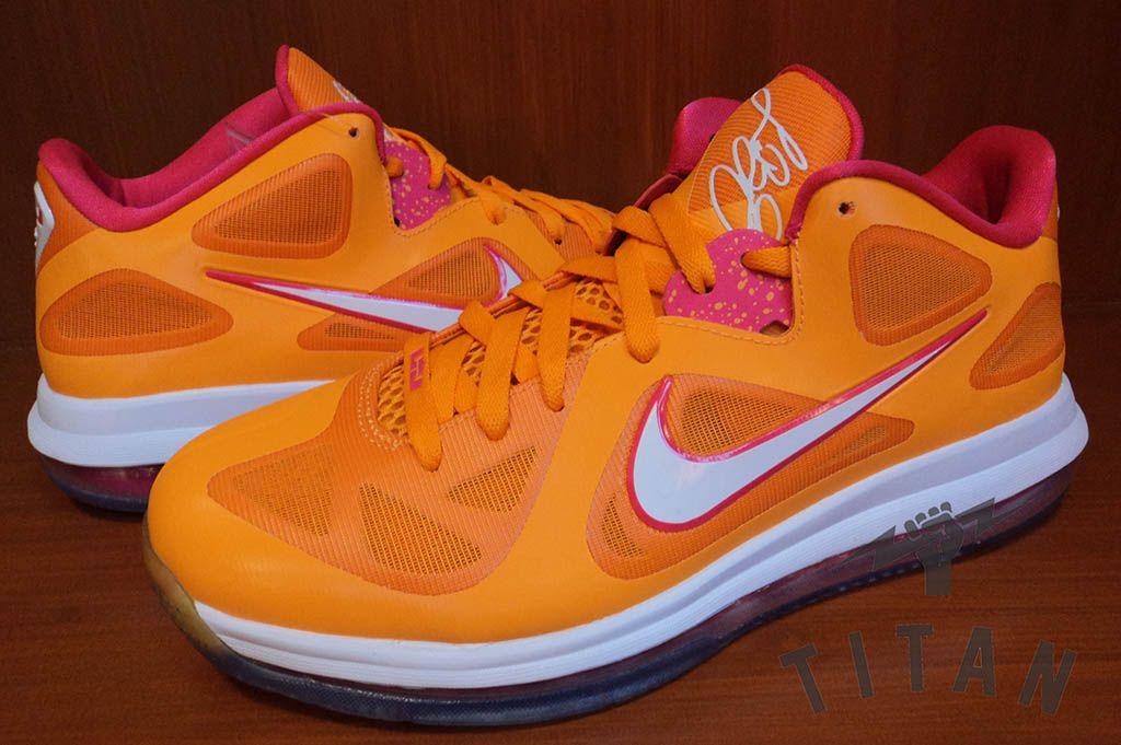 Nike LeBron 9 Low – Vivid Orange/Cherry
