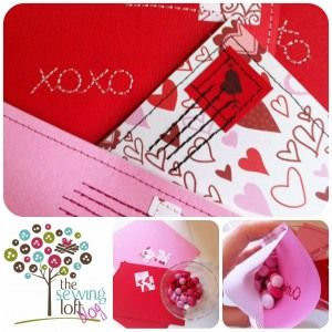 Candy Filled Love Letters Valentine S Day Sewing Projects