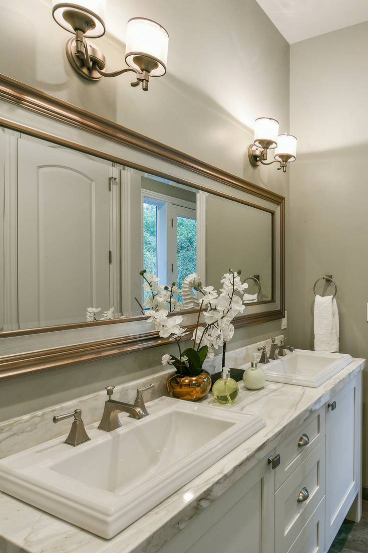 Love The Way This Bathroom Came Together Cabinets By Premier Kitchens Home Decor Bathroom Framed Bathroom Mirror
