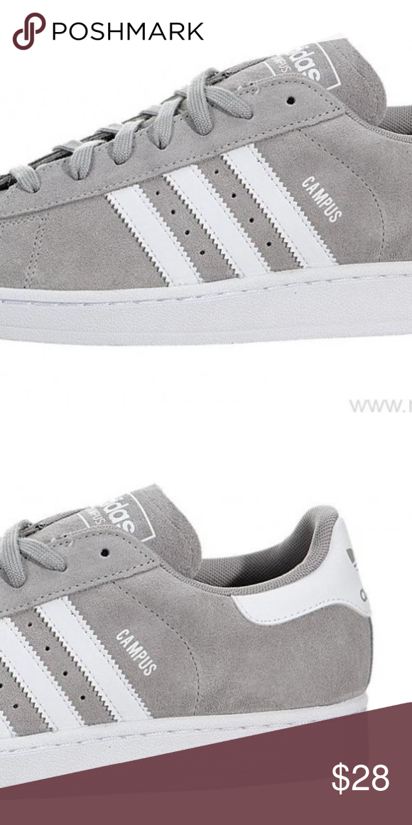 2f7ecc563f1 Adidas Campus Skate shoe Light Grey   White USED Adidas Campus Skate shoe  Light Grey   White Used Skateboarding Retro shoe Mens size 7 1 2 (fits  women 9.5) ...