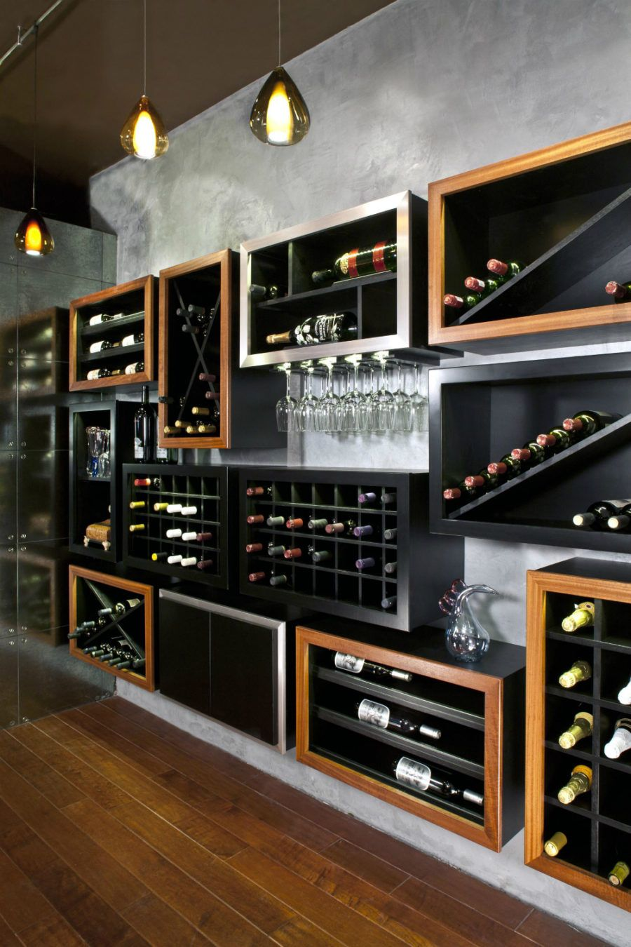 Weinkeller einrichten modern  Any Connoisseur's Dream: Modern Wine Cellar Designs | Alkohol und ...