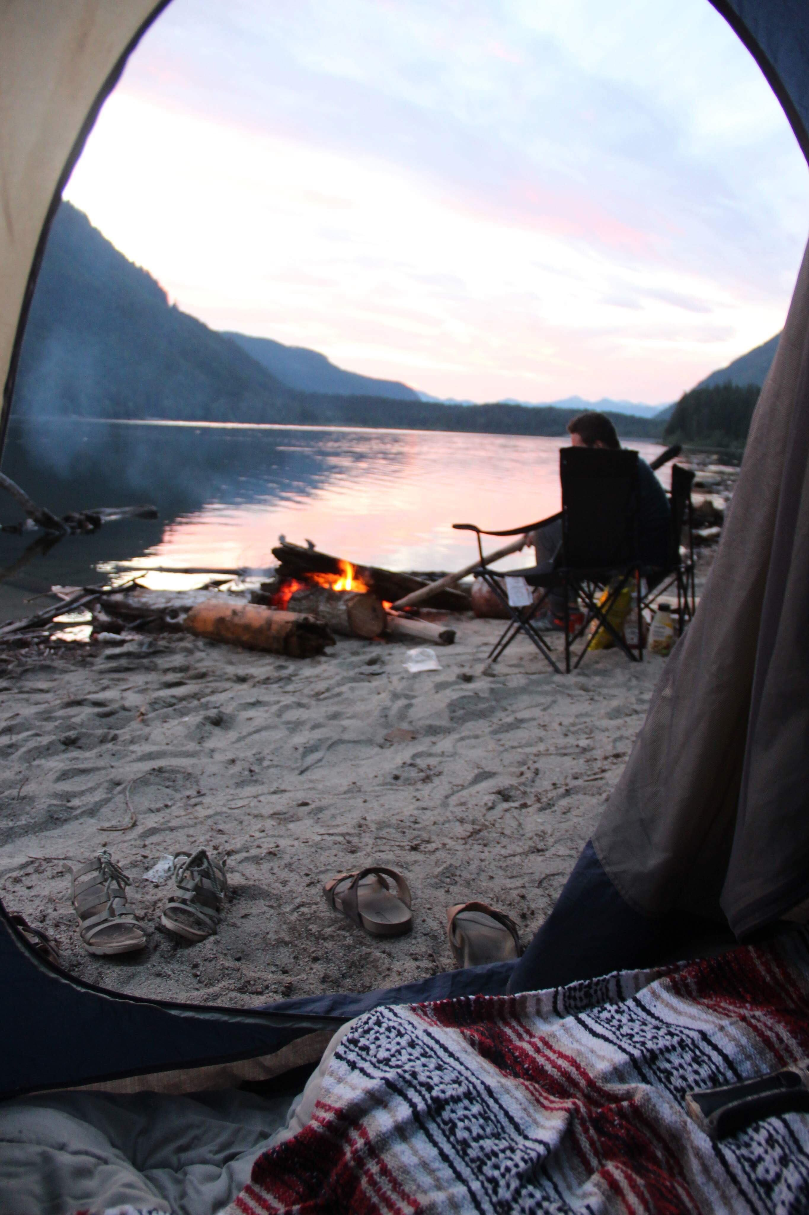 Tent Views Tentviews Camping Campfire Camp Tent In