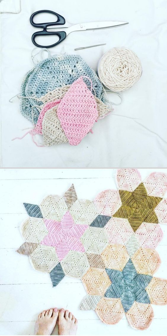 Inspiration :: Star blanket WIP by Therese Hagstedt of Tipsy Tessie ...