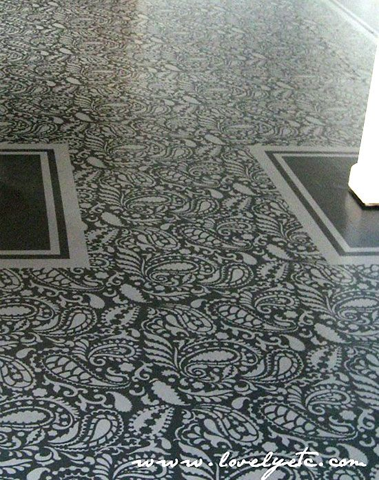 Stenciled Floor And Rug Inspiration Home Decorating