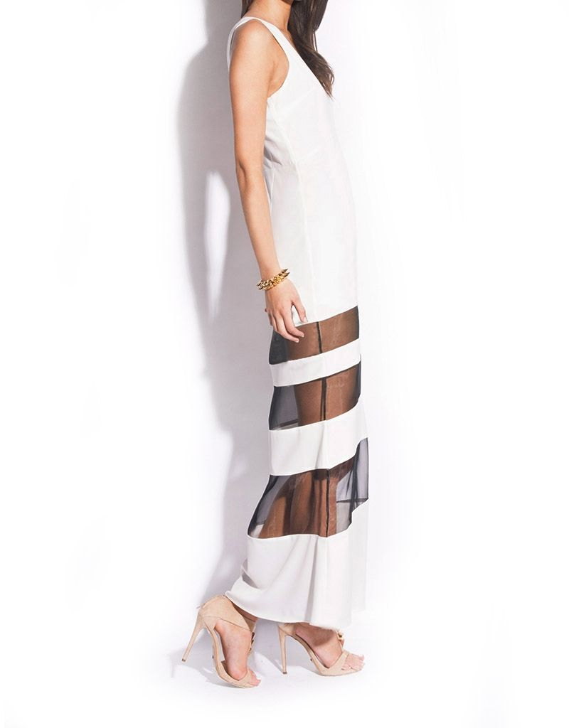 CONTRAST SHEER PANEL MAXI - LUMIER 2 SPRING 2013 : New Arrivals : Bariano - Fashion Designer Australia