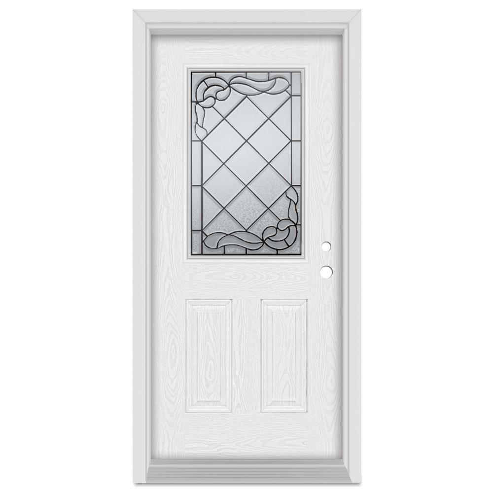 Stanley Doors 33 375 In X 83 In Art Deco Left Hand Inswing 1 2