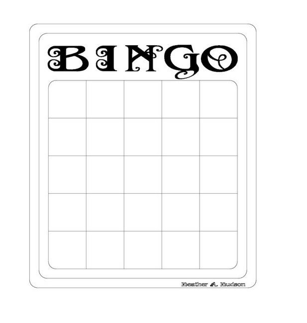 Bingo Card Templates Cards  Bingo Template Bingo Card Template