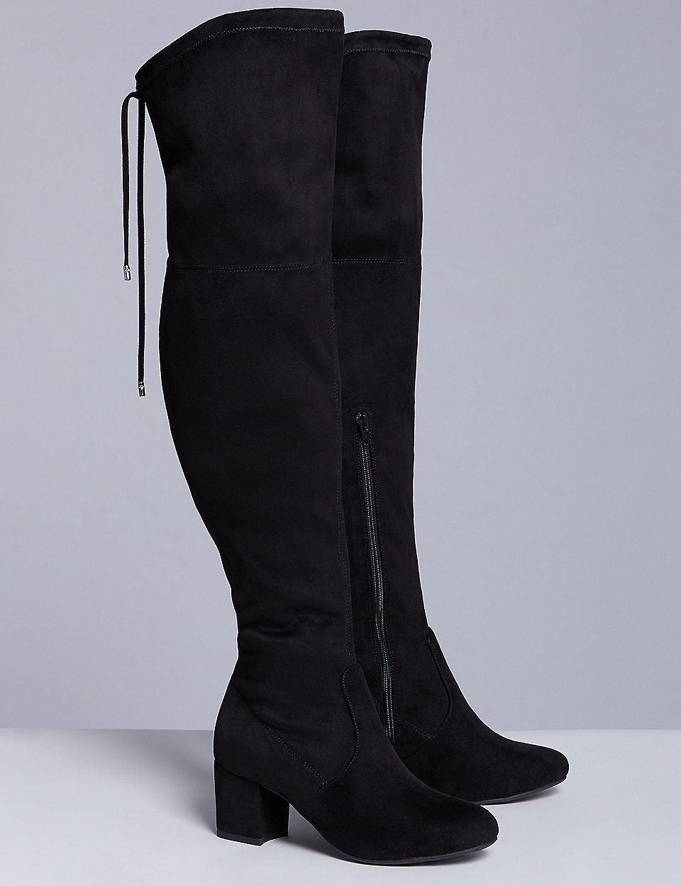 a44e2d4bf Plus Size Wide Calf Over-the-Knee Boot with Low Block Heel #plussize ...