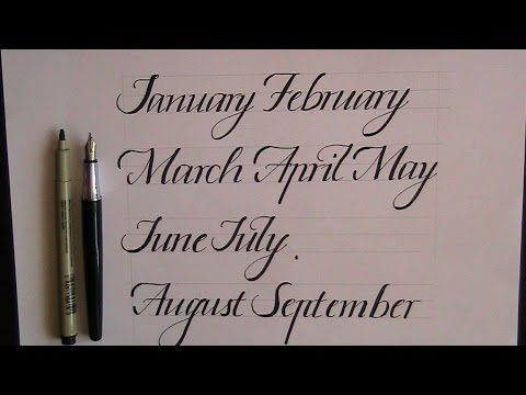 Calligraphy for beginners how to write a lower case italic