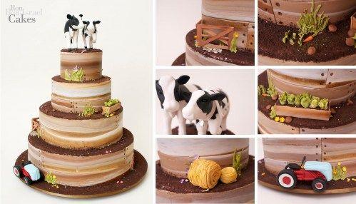 Farm themed wedding cake t49 animals nature pinterest farm themed wedding cake junglespirit Choice Image