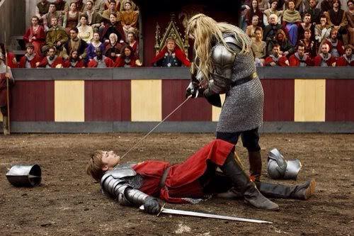 Arthur and Morgause. Merlin Season 2