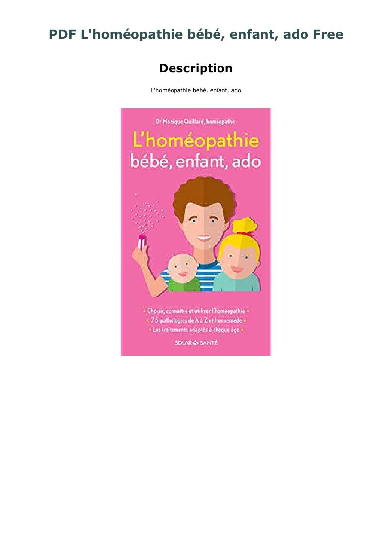 Pdf L Homeopathie Bebe Enfant Ado Free Winnie The Pooh Character Paperbacks