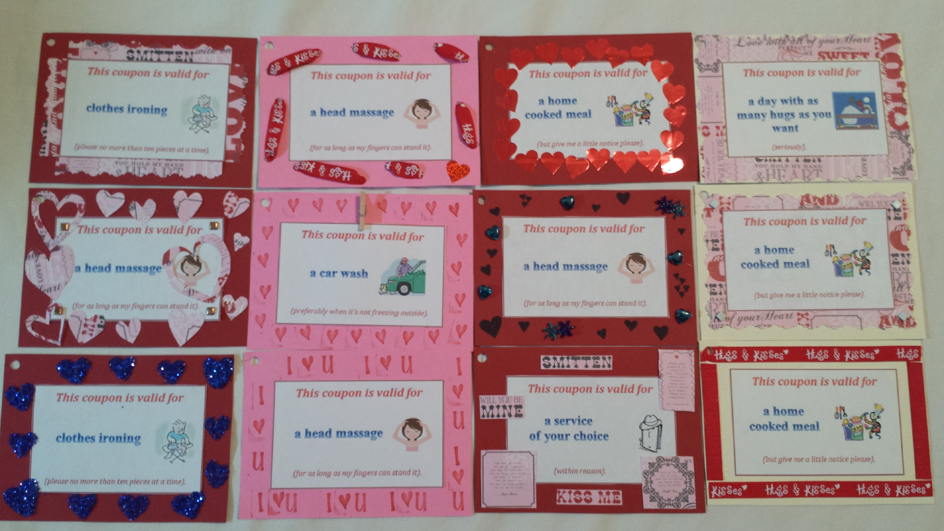 Coupon ideas for a boyfriend/girlfriend for Valentines