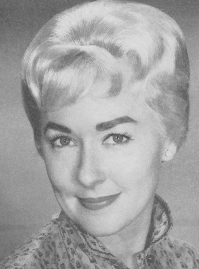 Platinium blond look  and bold eyebrows 1960