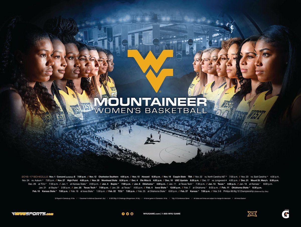 201617 West Virginia Women's Basketball Poster