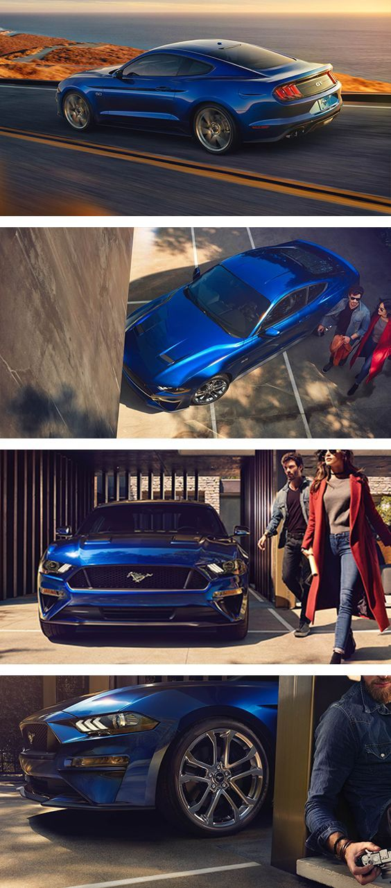 2018 Mustang Kona Blue New Hood New Grille New Wheels Mustang 2018 Blue Mustang Mustang