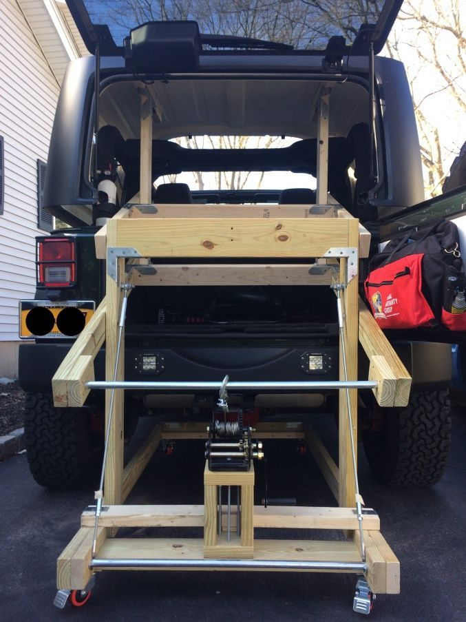 Building My Hardtop Lift Jeep Wrangler Forum Jeep Wrangler Diy Jeep Jeep Wrangler Tops