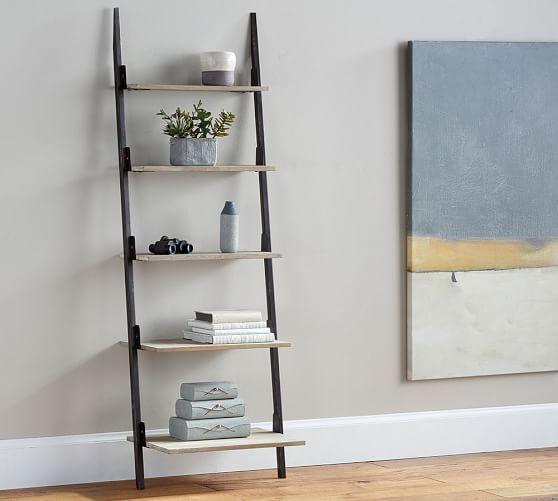 You Can Never Have Too Many Bookshelves! Clarkson Ladder Shelf  #mypotterybarn