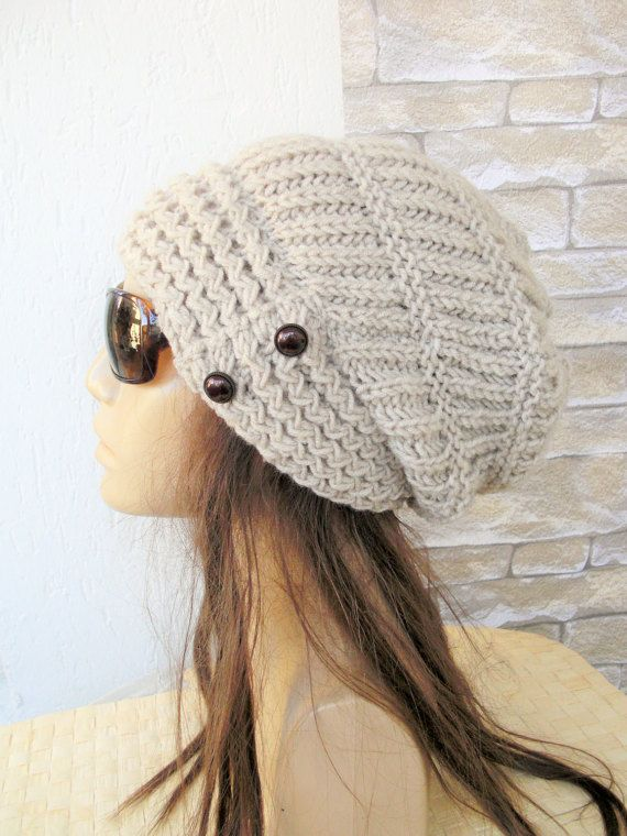 46939447ee4 Womens Slouchy Hat Winter Hat Knit Hat - Slouchy Beanie by Ebruk ...