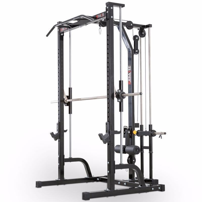 Máquina De Musculación Multipress Tipo Smith Con Estación De Poleas Megatec Power Rack Home Made Gym At Home Gym