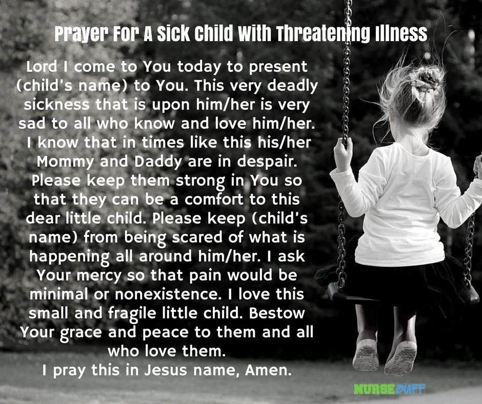 8 Miracle Prayers For A Sick Child #nursebuff