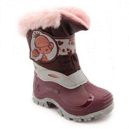 Startrite /'Princess Arabella/' Girls Purple Snow Boots