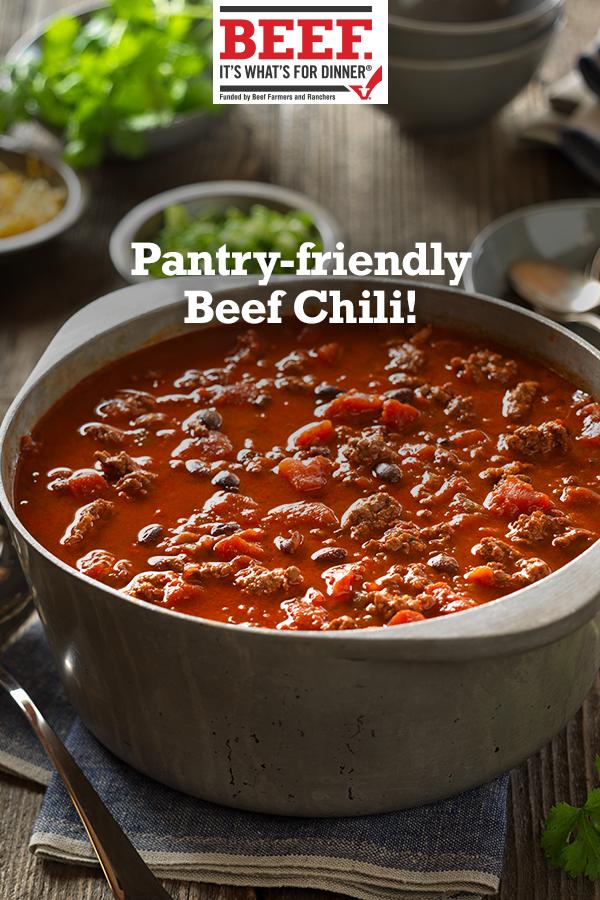 Beef Chili Recipe Easy Beef Chili Recipe Recipes Soup Recipes