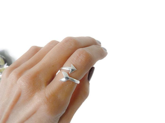 Sterling Silver Index Ring Adjustable Arrowhead Ring For Women by RossanaJewelryDesign on Etsy https://www.etsy.com/listing/263706337/sterling-silver-index-ring-adjustable