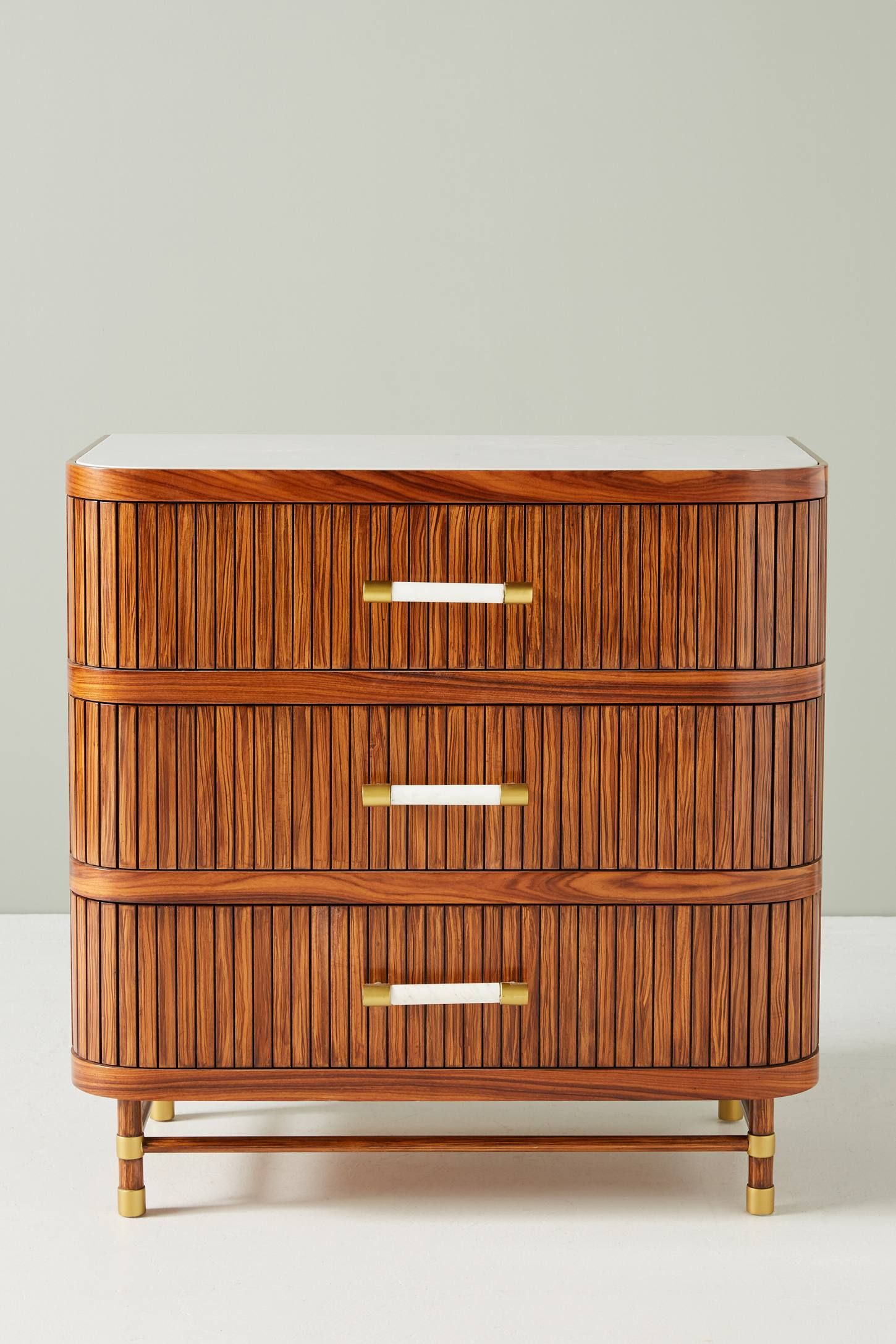 Deluxe Tamboured Three Drawer Dresser Anthropologie Pulls Furniture