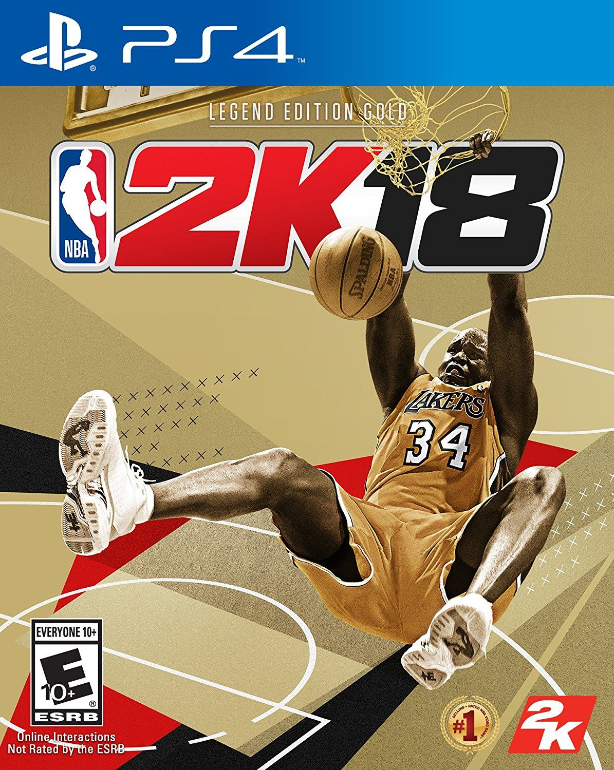 NBA 2K18 Game Cover PS4 Legend Edition Gold Nba video