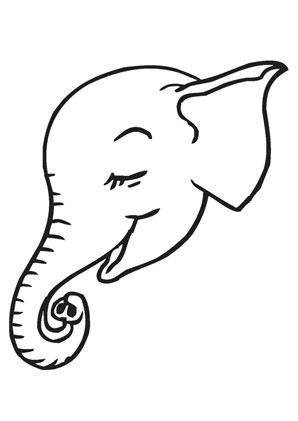 Ausmalbild Elefantenbabykopf Zum Ausmalen Ausmalbilder Ausmalbilderelefanten Malvorlagen Ausmalen Schule Kindergar Elefant Ausmalen Elefanten