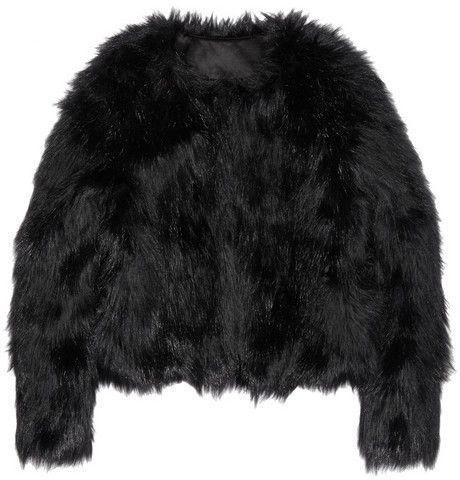 $69, Black Fur Jacket: Altuzarra For Target Faux Fur Jacket. Sold by NET-A-PORTER.COM. Click for more info: http://lookastic.com/women/shop_items/107262/redirect