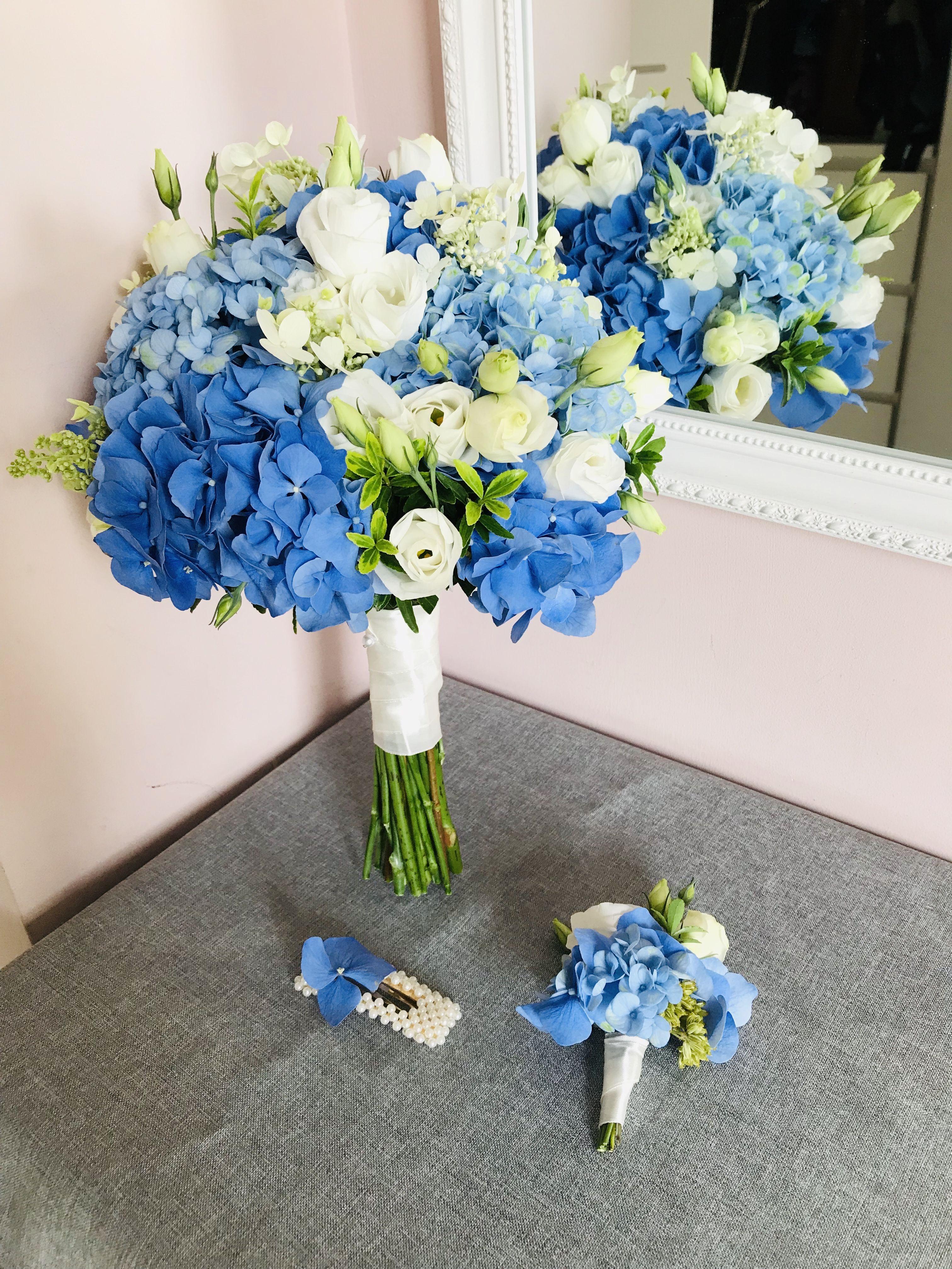Niebieski Bukiet Z Hortensja Royal Blue Wedding Blue Wedding Wedding