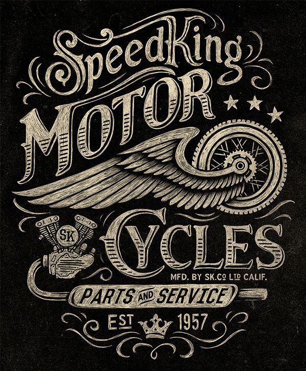 Vintage Motorcycle Graphics
