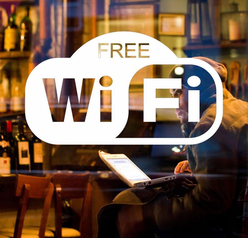 Office Shop: FREE WiFi Sticker Window Decal Internet Sign Cafe, Bar