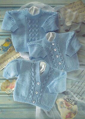 Photo of Baby Sweater & Cardigans Knitting Pattern Double Knit 16/22 Inch (1682) – #Baby …