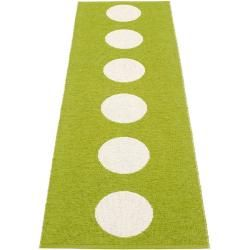 Photo of pappelina Vera outdoor rug – apple green / vanilla 70 x 225cm PappelinaPappelina