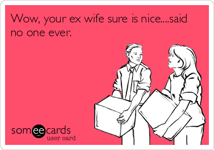 Wow Your Ex Wife Sure Is Nice Said No One Ever Ex Humor Wife Humor Ex Wife Quotes