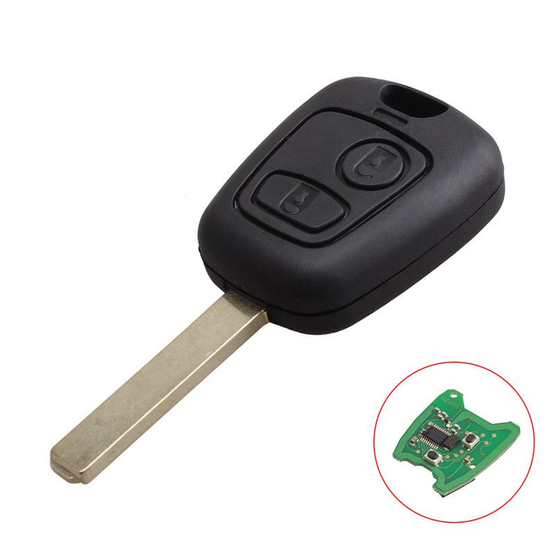 2 Buttons 433mhz Pcf7961chip Remote Key Keyless For Peugeot 307