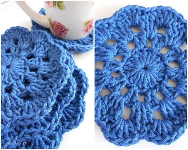 pamistyle geh kelte untersetzer crochet knitting pinterest h keln stricken und. Black Bedroom Furniture Sets. Home Design Ideas