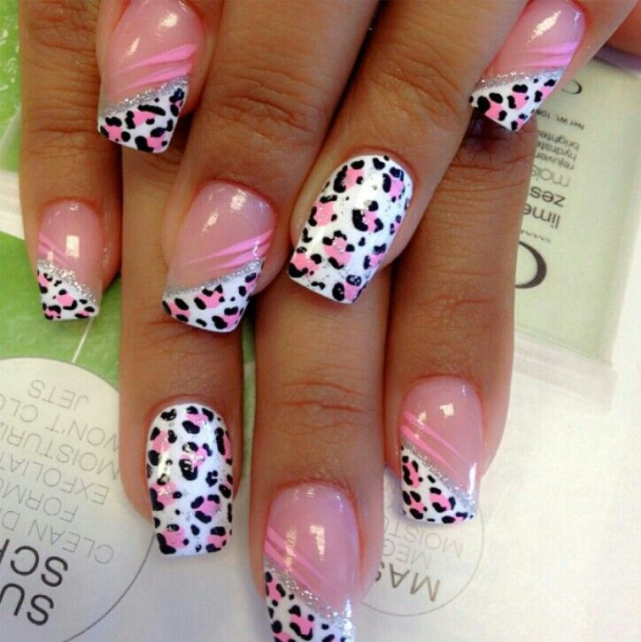 Sexy cute pink leopard nails by Instyle Nail Spa Paramount Ca ...