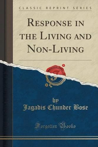 Response in the living and non living classic reprint books to response in the living and non living classic reprint fandeluxe Choice Image