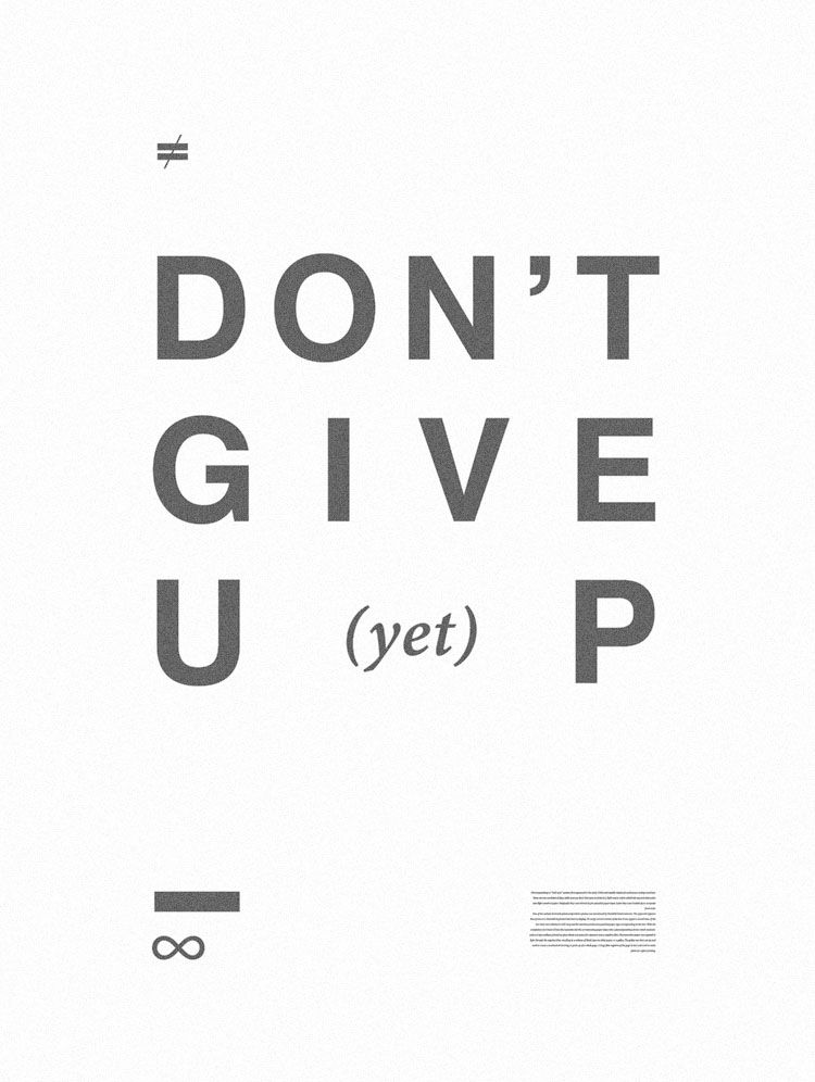 Don't give up yet!