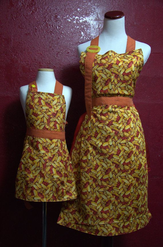 Full Apron Mommy's Sunday Apron Mommy and Me by TheElliottsCloset, $34.99