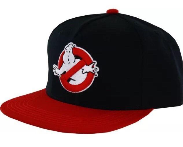 d776183d376 Ghostbusters Logo Flat Brim Snapback Hat 888783463003